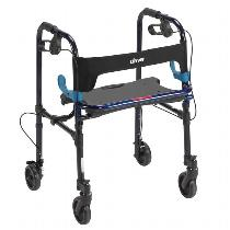 "Drive Medical Clever-Lite Rollator w/ 5"" Casters Rolling Walkers W/Handbrakes"
