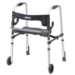 Drive Medical Clever-Lite LS Rolling Walkers W/Weight-Activated Brakes
