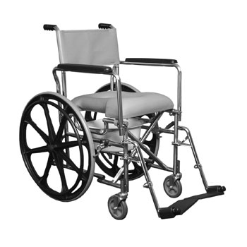 "Rehab Shower Commode Chair w/24"" wheels"