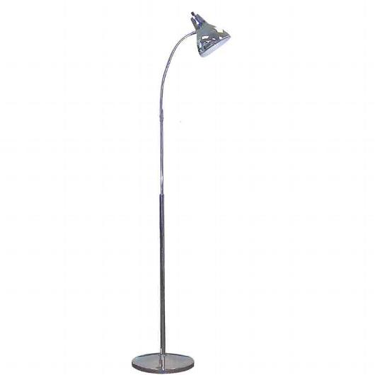 Captivating Gooseneck Floor Lamp W/Cone Style Shade