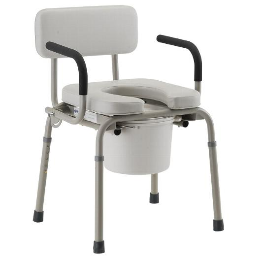 Padded Drop-Arm Commode