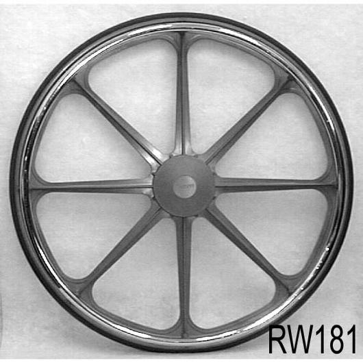 24x1 Economy Mag Wheels, pair