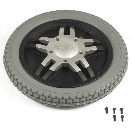 "14"" Gray Flat-Free Drive Wheel Assembly for Jet Power Chairs"