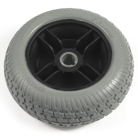 "7.5"" Gray Flat-Free Drive Wheel Assembly for Go Chair & Z Chair"