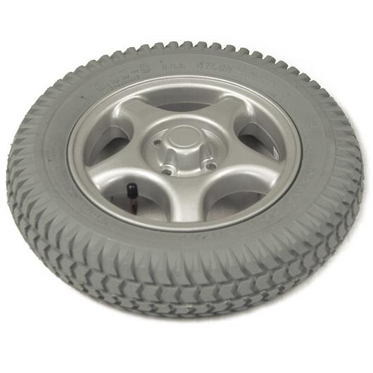 "Drive Wheel Assembly, Pneumatic, Grey Tire/Silver Rim (14 x 3"")"