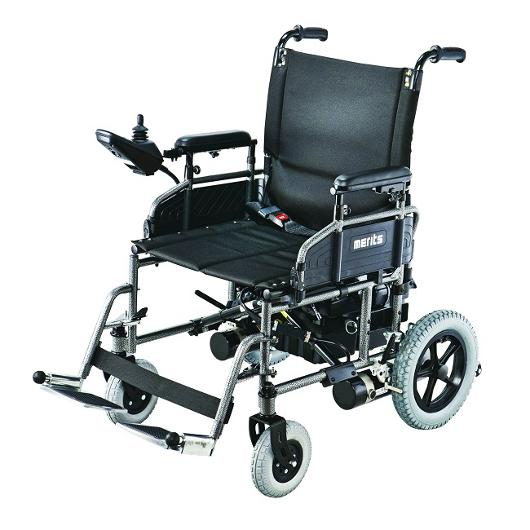 Merits health travel ease folding power chair merits Portable motorized wheelchair