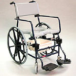 "Activeaid Rehab Shower Commode Chair - 24"" Wheels"