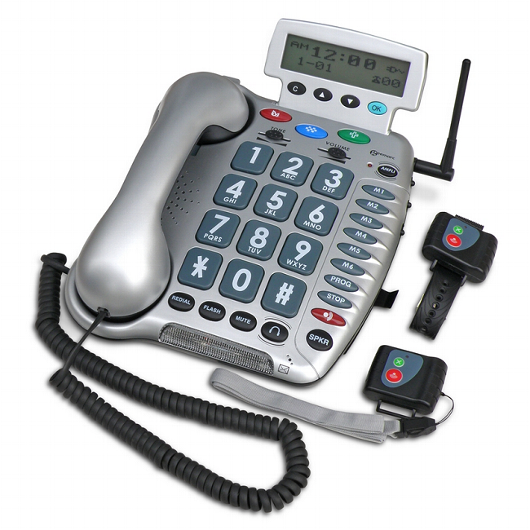 Amplified Corded Phone with Emergency Connect