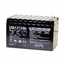 UPG 12V 12AH Sealed Lead Acid Batteries (Pair) Battery