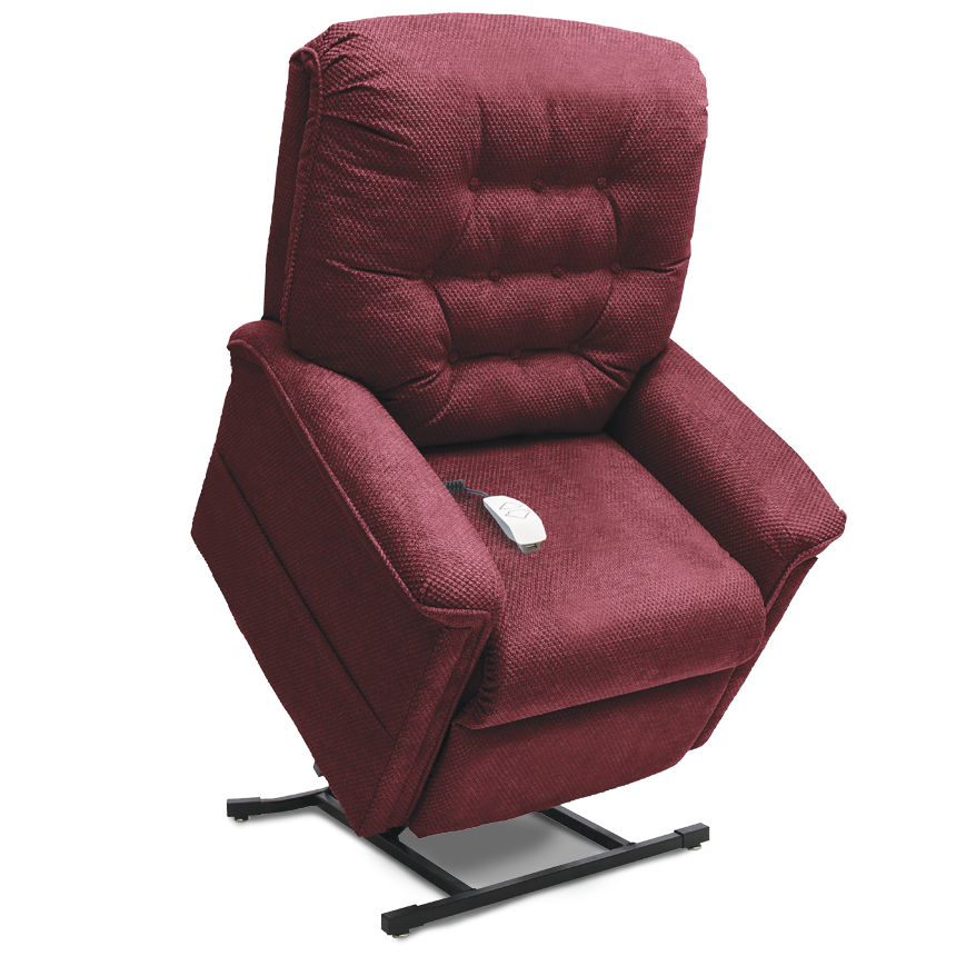 Shown in Cloud 9 fabric in Black Cherry.