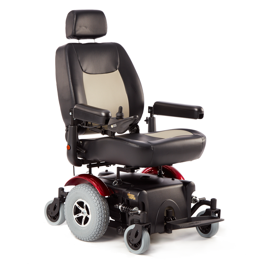 merits health vision super heavy duty power chair merits health