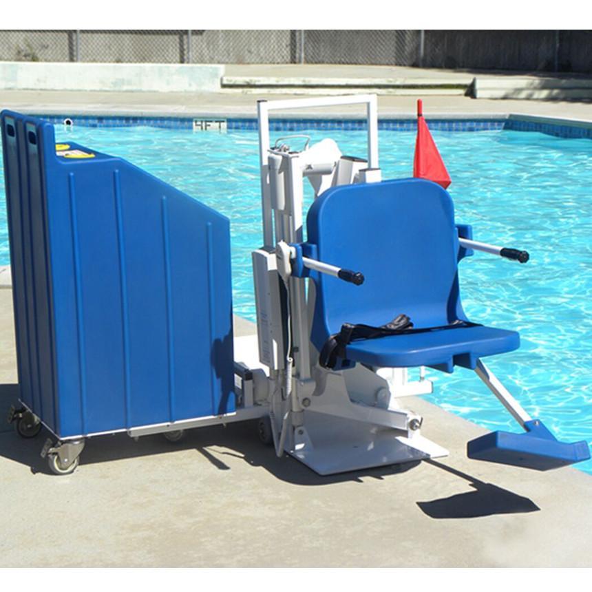 Aqua creek patriot portable pool lift aqua creek power for Portable pool