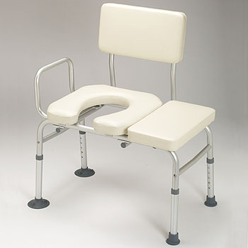 Transfer Bench-Standard Padded W/Commode Opening