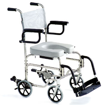Guardian Rehab Shower Commode Chair 8 Wheels Guardian Rehab Shower