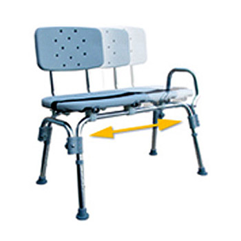 Eagle Health Heavy Duty Transfer Bench W Sliding Seat