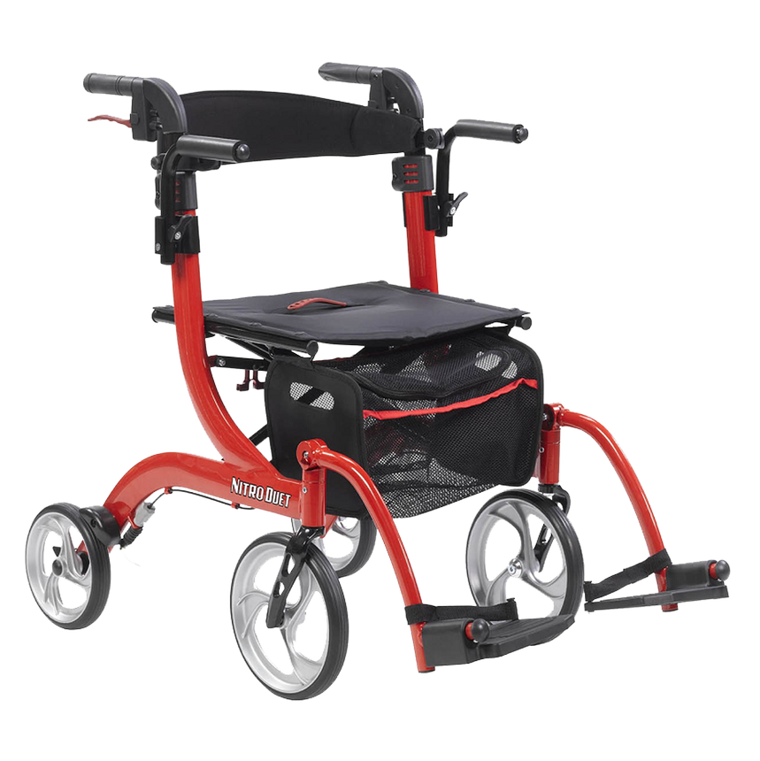 Drive Medical Nitro Duet Rollator And Transport Chair