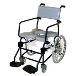 "Activeaid Rehab Shower Commode Chair - 20"" Wheels"