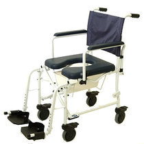 "Invacare Mariner Rehab Shower Commode Chair- 5"" Wheels Rehab Shower Commode Chair"