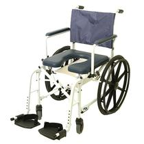 "Invacare Mariner Rehab Shower Commode Chair - 24"" Wheels, 18"" Seat Rehab Shower Commode Chair"