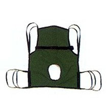 Hoyer Basic 4-Pt Sling w/Commode Cut-Out/Positioning Strap Bathing & Toileting Slings