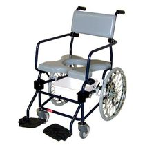 "Activeaid Rehab Shower Commode Chair - 20"" Wheels Rehab Shower Commode Chair"