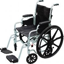Drive Medical Poly-Fly Standard Transport Wheelchair
