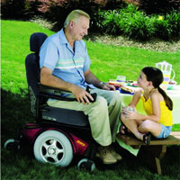 Indoor/Outdoor Power Wheelchair